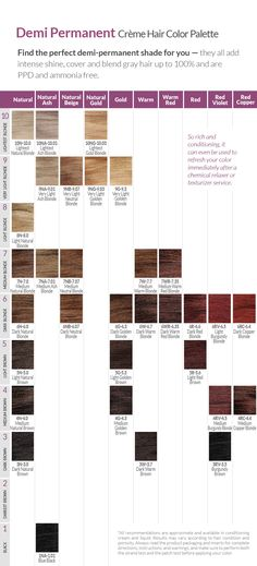 ION COLOR BRILLIANCE CHART | Hair color or cut ideas | Pinterest ...