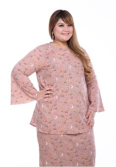 Kurung Edwina in Pink from LoveLily in Pink Kurung Edwina in Pink from LoveLily in Pink - Lightweight, breathable cotton-satin blend, Kurung Edwina easy to care for and does not wrinkle ... Body Types, Flower Prints, Hemline, Peplum Dress, Satin, Easy, Modern, Pink, Cotton