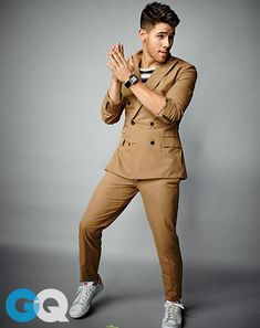 Nick Jonas in the tailored double breast suit... #dopeness