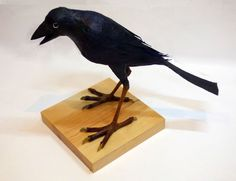 Papier Mache Crow  by Phil Lockwood