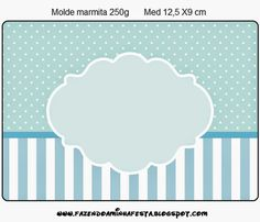 Light Blue and White Stripes and Polka Dots Free Printables... they also have circles and other shapes to print..