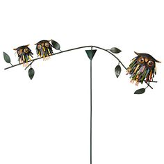Fringy owl!   Look what I found at UncommonGoods: spiky owl balancer stake... for $46 #uncommongoods