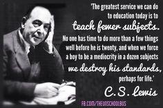 C.S. Lewis on education ...