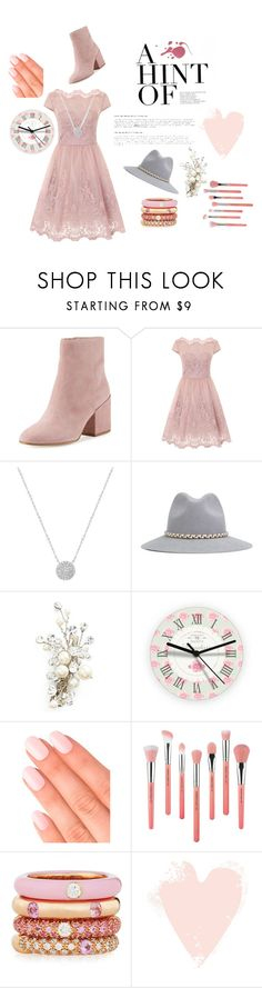 """""""Untitled #26"""" by zaramichelle ❤ liked on Polyvore featuring Sam Edelman, Chi Chi, Jankuo, YOSUZI, Wedding Belles New York, Elegant Touch, Bdellium Tools and Adolfo Courrier"""