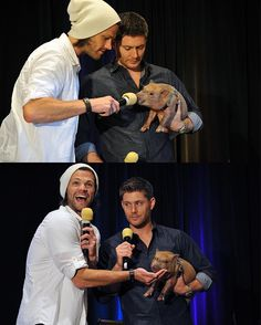 "Jared's like ""LOOK AT THE CUTENESS, LOOK AT IT"", and Jensen's just like ""Jared, stop fawning over my breakfast"""