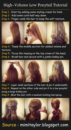 High-Volume Low Ponytail Tutorial