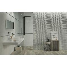 STONE CITY Wood Bathroom, Bathroom Colors, Bathroom Flooring, Bathroom Faucets, Grey Wall Tiles, Wall And Floor Tiles, Grey Walls, Graphic Pattern, Sandstone Color