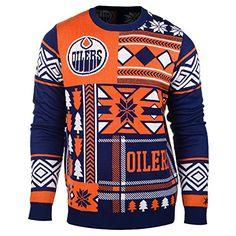 4b554e41fc0 Edmonton Oilers Christmas Sweater Holiday Sweater, Ugly Christmas Sweater,  Sweater Fashion, Men Sweater