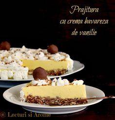 prajitura cu crema bavareza de vanilie lecturi si arome