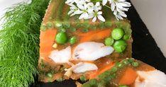 Terrine de poisson en gelée. Terrine de joues de lotte aux petits légumes.. La recette par Chef Simon.