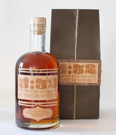 Great looking whiskey packaging. Would also work for maple syrup. Love the wood.