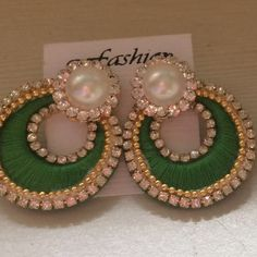 Buy unique, quirky and different products directly from sellers all over India. Buy online now. Silk Thread Earrings Designs, Silk Thread Bangles Design, Silk Thread Necklace, Silk Bangles, Thread Jewellery, Paper Quilling Earrings, Jewelry Making Tutorials, Video Tutorials, Silk Art