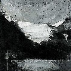 Ørnulf Opdahl: Bre, 30 x 30 cm Mountain Art, Mountain Landscape, Nature Paintings, Landscape Paintings, Abstract Landscape, Abstract Art, Landscaping Tips, Oslo, Beautiful Landscapes