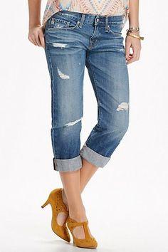 AG Ex Boyfriend Crop Jeans Sunday Style: Boyfriend Jeans