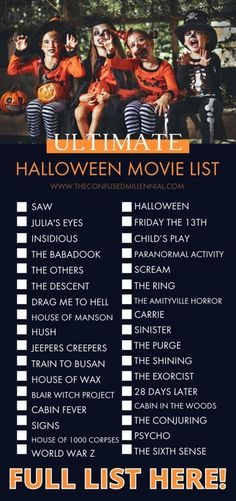 The Ultimate List of Halloween Movies [100+ from Scary to Not-So-Scary!] in 2021 - The Confused Millennial