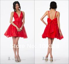 Find More Vestidos de Baile de Estudantes Information about feitos sexy v  pescoço a  linha acima do joelho mini arco sem mangas backless curto vestidos de baile 2014 novo design,High Quality Vestidos de Baile de Estudantes from Rose Wedding Dress Co., Ltd on Aliexpress.com