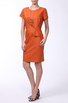 обтягивающее короткое платье оранжевого цвета, на лето Dresses For Work, Fashion, Moda, Fashion Styles, Fashion Illustrations