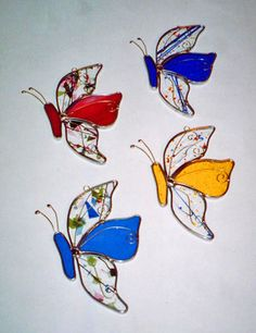 Butterfly Suncatcher Stained Glass Butterfly by glassbypat, $20.00