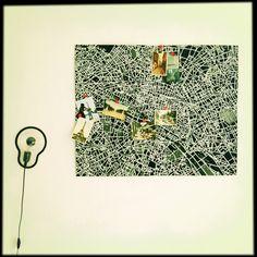 Paris pin map en lamp van droog design