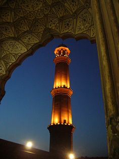 The Light of Faith, Masjid minar, Lahore, Pakistan Peshawar Pakistan, Pakistan Zindabad, Travel Around The World, Around The Worlds, Indus Valley Civilization, Mystery Of History, Islamic Architecture, Place Of Worship, Historical Pictures
