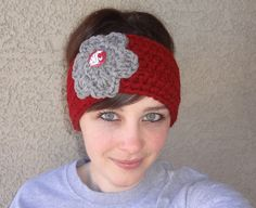 READY to SHIP  Women's  Crochet  WSU  Earwarmer - $20.00