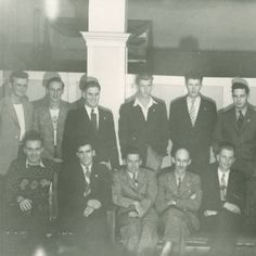 Regina College History (Photo: 80-2-107)  Title: Students - First veteran group 1945 January