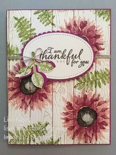 Hand Stamped Thankful for you card using the Painted Harvest stamp set that is carried over from the 2017 Holiday catalog so you can for sure still order it until June 2018.
