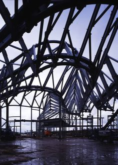 Steel construction for Zaha Hadid's Glasgow Riverside Museum. #architecture