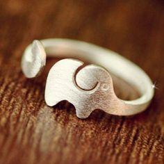 Elephant Shape Cuff Ring ==