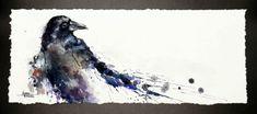 Crow Crow Art, Crows, Ravens, Watercolor Paintings, Moose Art, Birds, Blackbird, Animals, Animales