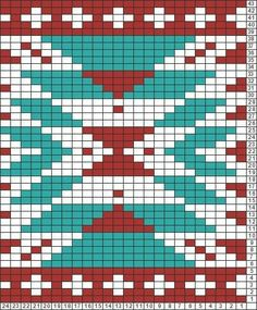 Tricksy Knitter Charts: aztec motif by Tricksy Knitter Char… , - Perlmuster Sitricken Tapestry Crochet Patterns, Bead Loom Patterns, Weaving Patterns, Cross Stitch Patterns, Quilt Patterns, Crochet Chart, Bead Crochet, Filet Crochet, Knitting Charts