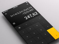 calculator app 20 Fantastic Examples of Flat UI Design In Apps