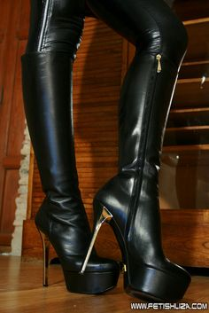 hot platform boots with gold spike heels <3.... YES LAWDDDD these are hot as hell