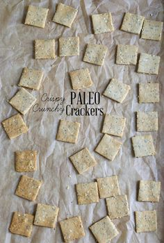Get this tested recipe for seeded crispy crunchy Paleo crackers—gluten free, grain free, dairy free, but still crispy and crunchy!