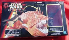 Star Wars Opee and Qui-Gon Jinn Action Figure Episode 1 MINT CHEAP PRICE! #Hasbro