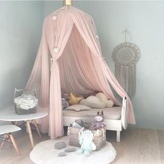 Ingenious Baby Crib Netting Princess Dome Bed Canopy Childrens Bedding Round Lace Mosquito Net For Baby Sleeping Kids Bed Cover Pj-011 Baby Bedding Crib Netting