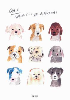 dog training,dog hacks,teach your dog,dog learning,dog tips Dog Illustration, Graphic Design Illustration, Watercolor Animals, Watercolor Art, Animal Drawings, Cute Drawings, Walking Training, Dog Training, Guache