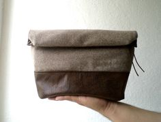Toiletry bag rollup men bagshaving bag groomsmens by CheriDemeter, $33.00