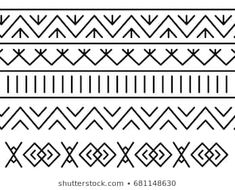 Unique decoration of log houses based on patterns used in traditional embroidery in village of Cicmany, UNESCO World Heritage Site, Slovakia, Vector on white background Border Embroidery, Embroidery Cards, Border Pattern, Pattern Art, Tribal Patterns, Print Patterns, Bullet Journal Decoration, Worli Painting, Doodle Art Journals