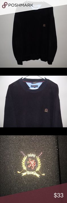 Vintage Tommy Hilfiger Golf Crewneck Sweatshirt Vintage Tommy Hilfiger Golf Crewneck Sweatshirt. Still in excellent (9/10) condition with zero stains or flaws, but there is some VERY light fading. The Tommy Hilfiger Golf crest is embroidered onto the left side of the shirt! Tommy Hilfiger Sweaters Crewneck