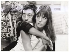 Jane Birkin and Serge Gainsbourg in Cannabis directed by Pierre Koralnik, 1970 Serge Gainsbourg, Gainsbourg Birkin, Jane Birkin, Couple Photography, White Photography, Photography Ideas, Cannabis, Jeanloup Sieff, Black And White Couples