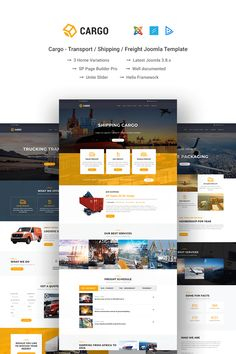 Cargo Transport / Shipping / Freight Joomla Template - Joomla Templates - Ideas of Joomla Templates - Cargo Transport / Shipping / Freight Joomla Template Ecommerce Template, Joomla Templates, Design Logo, Design Poster, Design Design, Logo Transport, Transport Logistics, Design Transport, Design Thinking