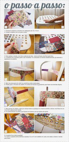 Ikea hack - DIY Patchwork chair - Reidar chair  - Faça você mesmo Cadeira patchwork - DIY Coletivo: Trazendo de volta à vida um móvel mortinho