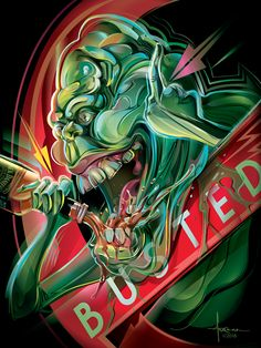 Incredible #Slimer artwork by Orlando Arocena  #Ghostbusters