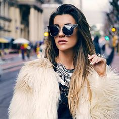 KEEP WARM, SHOP FAUX FUR  Happy almost weekend lovers  #MIXSHOPROCKS Round Sunglasses, Sunglasses Women, Almost Weekend, Keep Warm, Faux Fur, Lovers, Photo And Video, Happy, Shopping