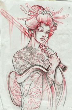 The geisha i want on my back with a background