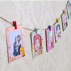 9 pcs/lot 6 Inch DIY Wall Hanging Cute Animal Paper Photo Frame For Pictures
