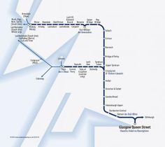 Great Scenic Rail Journeys route map for the West Highland line