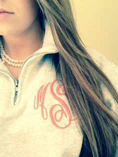 Monogram Pullover Sweatshirt, Quarter Zip Sweatshirt, Personalized Fleece Sweater for Women, Gifts for Her, Oversized Sweater in Unisex Size Preppy Style, Style Me, Preppy Casual, Classy Casual, Monogram Pullover, Swagg, Passion For Fashion, Dress To Impress, Autumn Winter Fashion