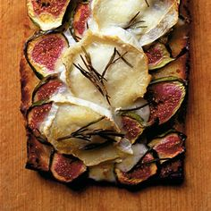 Nigel Slater's fig and goat's cheese focaccia recipe. For the full recipe and more, click the image or visit Redonline.co.uk
